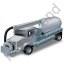 Sewer Cleaning Truck Grey Icon