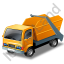 Skip Truck Yellow Icon, PNG/ICO, 64x64