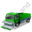 Snow Plow Truck Green Icon, PNG/ICO, 64x64