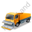 Snow Plow Truck Yellow Icon