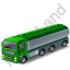 Tanker Truck Green Icon