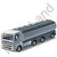 Tanker Truck Grey Icon