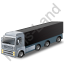 Tractor Trailer 2 Black Icon, PNG/ICO, 64x64