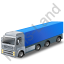 Tractor Trailer 2 Blue Icon
