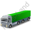 Tractor Trailer 2 Green Icon, PNG/ICO, 64x64