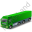 Tractor Trailer Green Icon