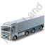 Tractor Trailer Grey Icon, PNG/ICO, 64x64