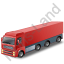 Tractor Trailer Red Icon, PNG/ICO, 64x64