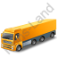Tractor Trailer Yellow Icon, PNG/ICO, 64x64