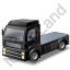 Tractor Unit Black Icon, PNG/ICO, 64x64