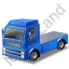 Tractor Unit Blue Icon