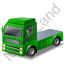 Tractor Unit Green Icon, PNG/ICO, 64x64