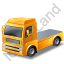 Tractor Unit Yellow Icon, PNG/ICO, 64x64