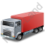 Truck Red Icon, PNG/ICO, 64x64