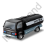 Water Tank Truck Black Icon, PNG/ICO, 64x64
