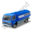 Water Tank Truck Blue Icon