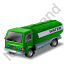 Water Tank Truck Green Icon