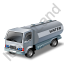 Water Tank Truck Grey Icon