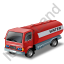 Water Tank Truck Red Icon