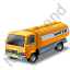 Water Tank Truck Yellow Icon, PNG/ICO, 64x64