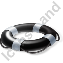 Lifebuoy Black Icon