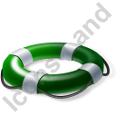 Lifebuoy Green Icon, PNG/ICO, 128x128