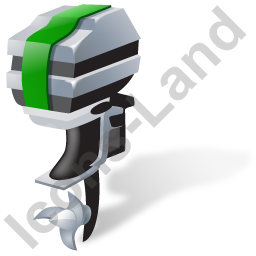 Outboard Motor Green Icon