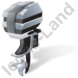 Outboard Motor Grey Icon