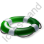 Lifebuoy Green Icon, PNG/ICO, 64x64