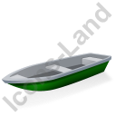 Boat Green Icon