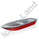 Boat Red Icon, PNG/ICO, 128x128