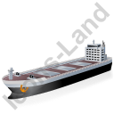 Bulk Carrier Black Icon