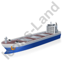 Bulk Carrier Blue Icon, PNG/ICO, 128x128