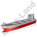 Bulk Carrier Red Icon, PNG/ICO, 128x128