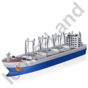 Cargo Ship Blue Icon
