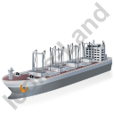 Cargo Ship Grey Icon, PNG/ICO, 128x128