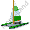 Catamaran Green Icon