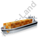 Container Ship Black Icon, PNG/ICO, 128x128