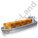 Container Ship Grey Icon, PNG/ICO, 128x128
