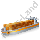 Container Ship Yellow Icon
