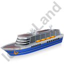 Cruise Ship Blue Icon, PNG/ICO, 128x128