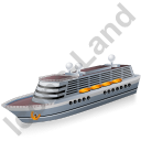 Cruise Ship Grey Icon