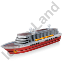 Cruise Ship Red Icon, PNG/ICO, 128x128