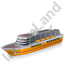 Cruise Ship Yellow Icon