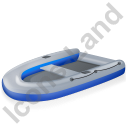Inflatable Boat Blue Icon, PNG/ICO, 128x128