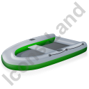 Inflatable Boat Green Icon, PNG/ICO, 128x128