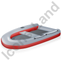 Inflatable Boat Red Icon, PNG/ICO, 128x128