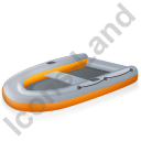 Inflatable Boat Yellow Icon