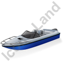 Motorboat Blue Icon