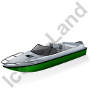 Motorboat Green Icon
